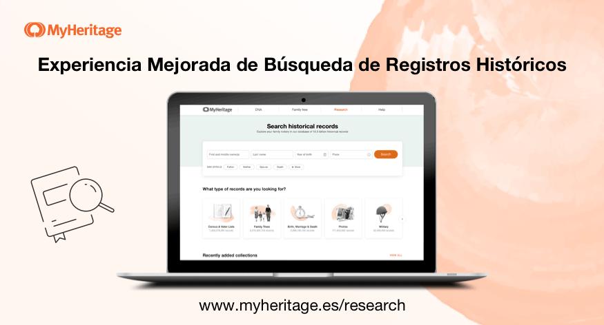El Buscador de Registros Históricos de MyHeritage ha sido Mejorado