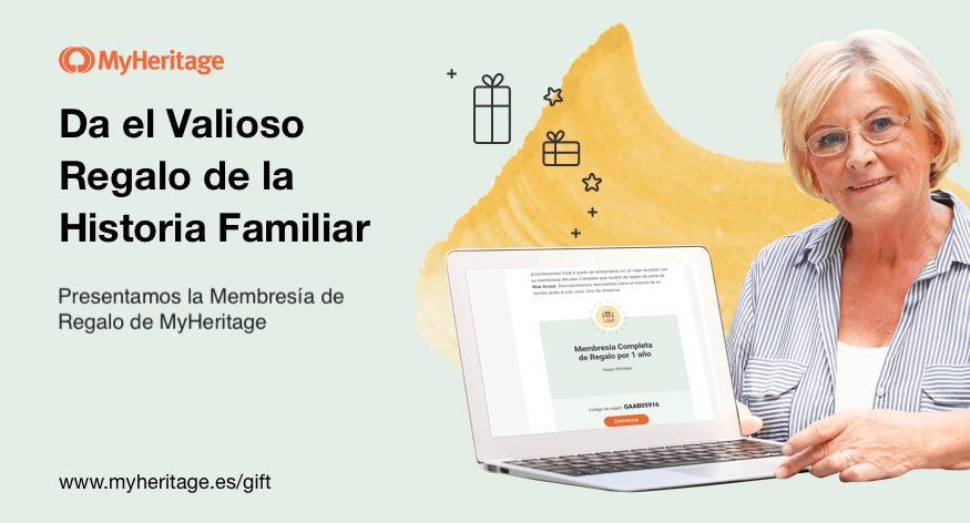 Presentamos: Membresía de regalo de MyHeritage